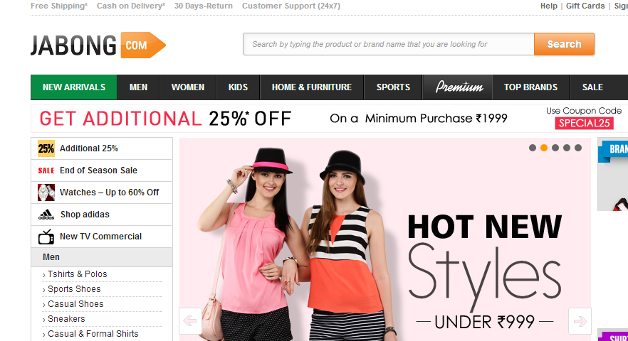 Best online fashion shopping website in india for Best website for online store