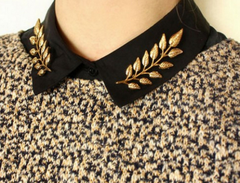 pin collar, chic jewelry