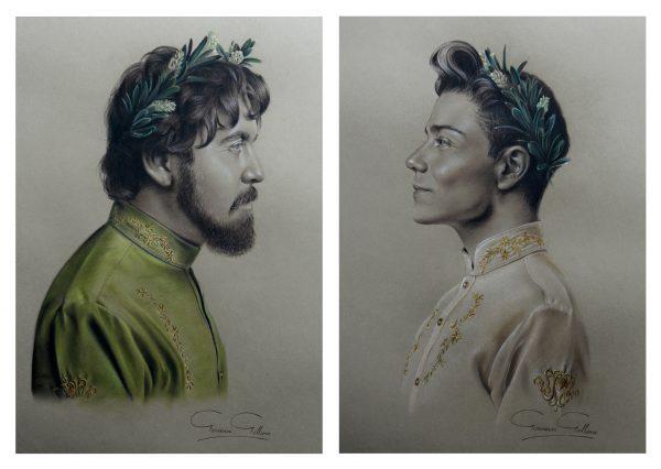 portraits, art