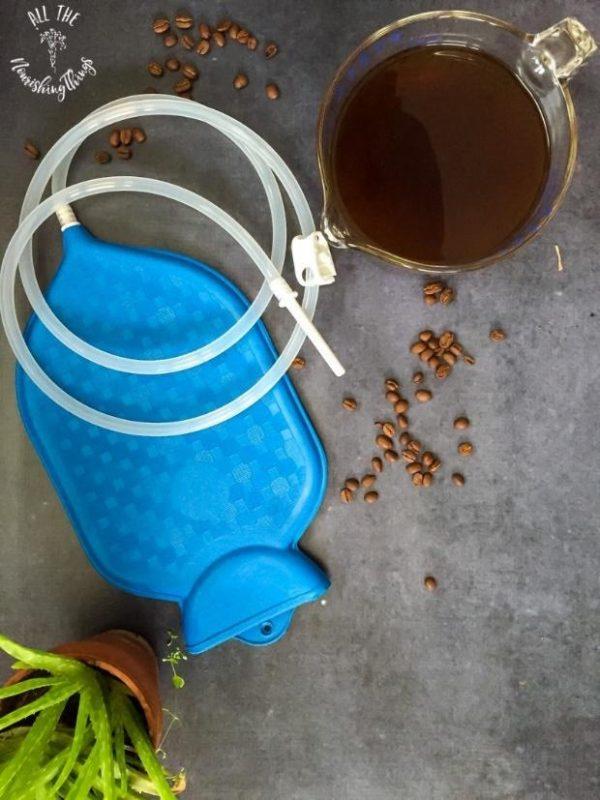 supplies for a coffee enema